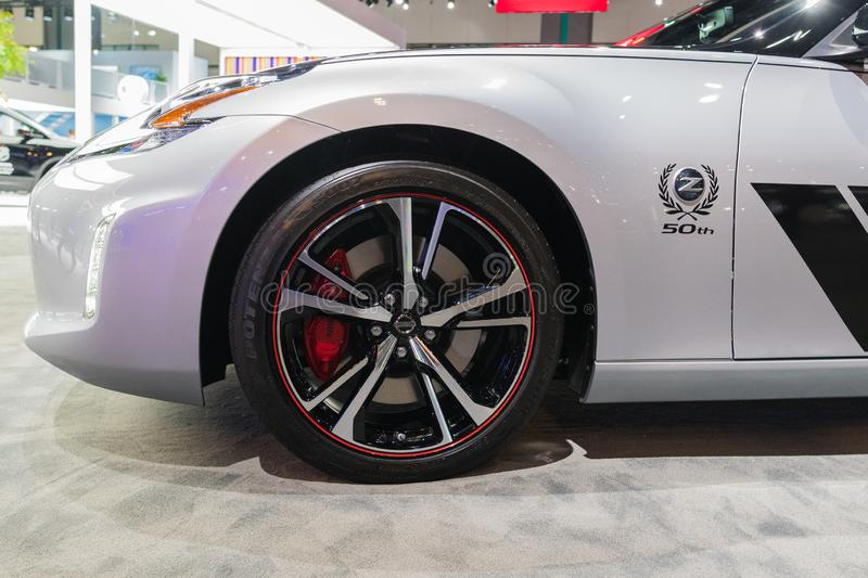 Nissan 370Z 50th Anniversary Edition  on display during Los Angeles Auto Show stock photos