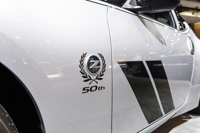 Nissan 370Z 50th Anniversary Edition  on display during Los Angeles Auto Show stock images