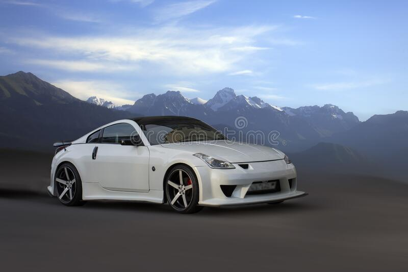 Nissan Z white car. royalty free stock images