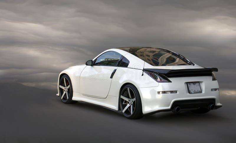 Nissan Z white car. stock image
