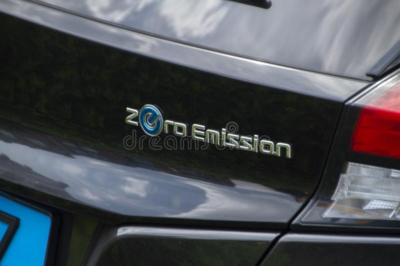 Nissan Zero Emission Electrical Car in Amstelveen die Niederlande 2019 stockfotos