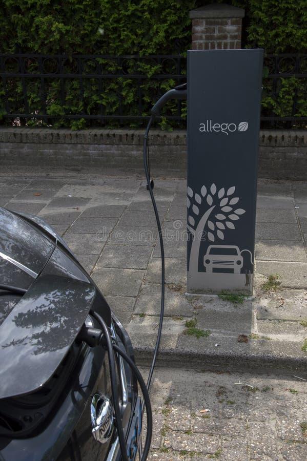 Nissan Zero Emission Electrical Car a Amstelveen i Paesi Bassi 2019 immagine stock libera da diritti