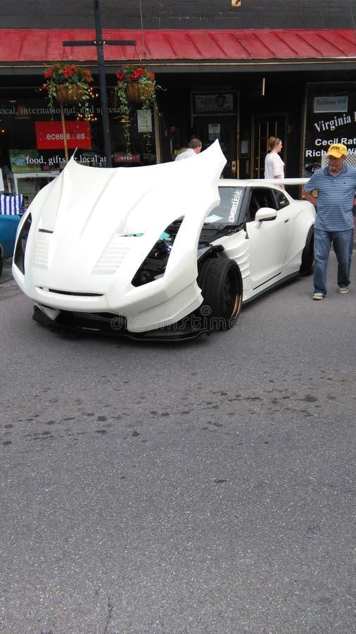 Nissans blanches r35 gtr photo libre de droits