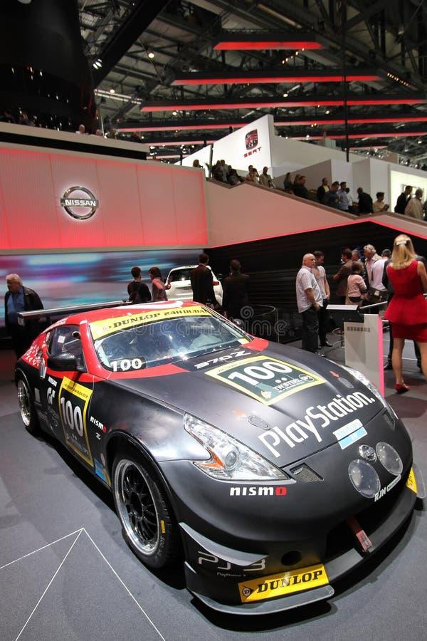 Nissans rallye Auto stockfotos