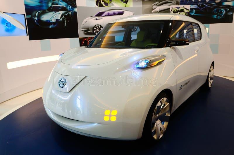 Nissans Townpod, véhicule de pouvoir électronique photo libre de droits