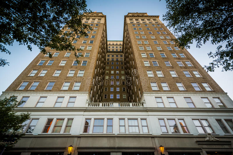 The Nissen Building, in downtown Winston-Salem, North Carolina. royalty free stock images