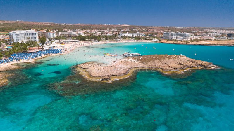 Nissi beach Agia Napa Cyprus royalty free stock images