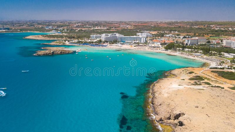 Nissi beach Agia Napa Cyprus royalty free stock photography