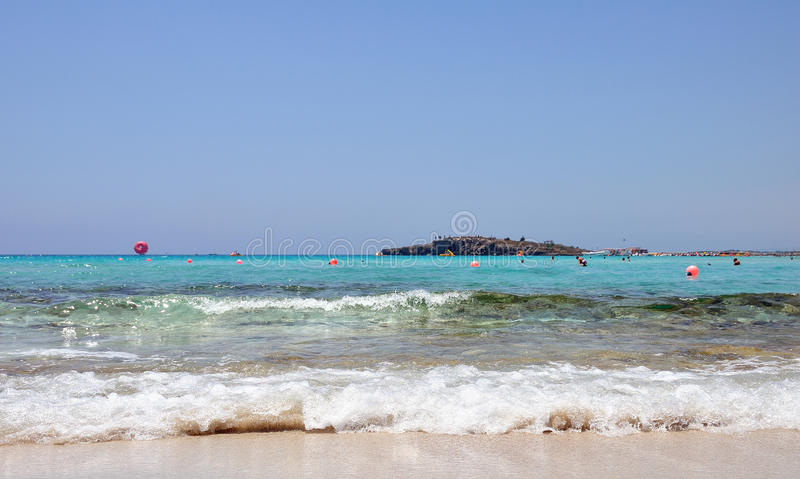 Nissi Beach. Cyprus royalty free stock photography