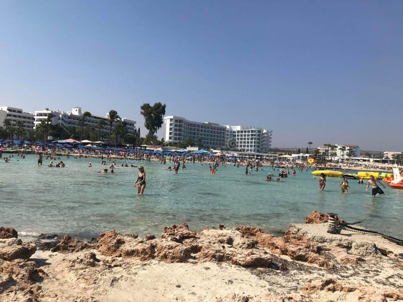 Nissi plaża zdjęcie stock