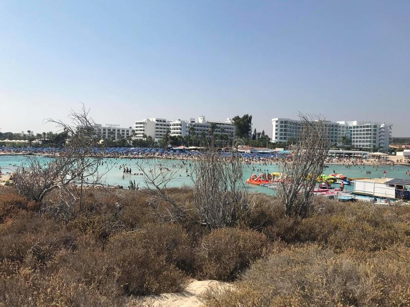 Nissi plaża obrazy stock