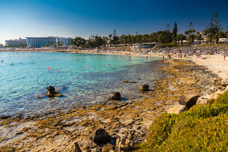 Nissi plaża w Aiya Napa, Cypr zdjęcia stock