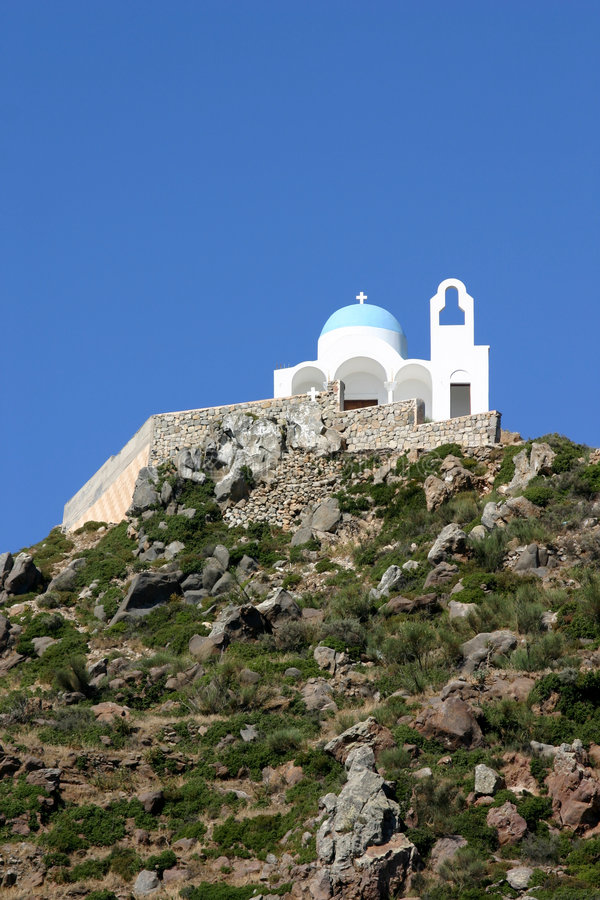 Download Nissyros Monastery stock photo. Image of europe, blue, abandoned - 469064