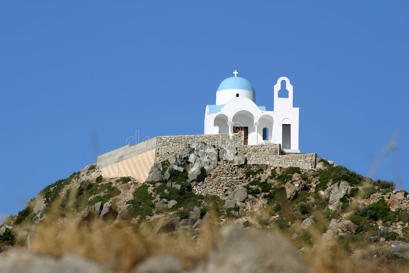Download Nissyros Monastery stock photo. Image of john, mountain - 469068
