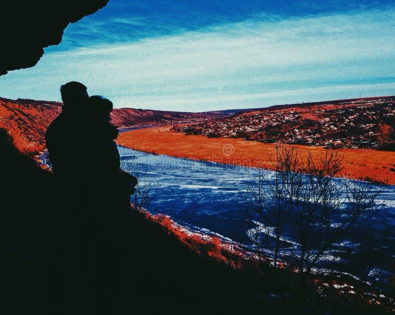Nistru Moldau de lac d'amour de couples photographie stock