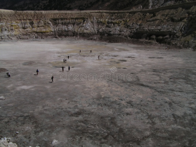 nisyros της Ελλάδας discoverin κρατήρων ηφαιστειακά στοκ εικόνα με δικαίωμα ελεύθερης χρήσης