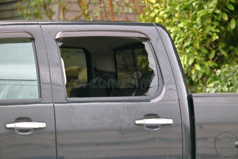 Niszcząca furgonetki ciężarówka zdjęcie stock
