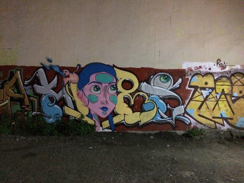 Niszcząca Uliczna graffiti sztuka W Meksyk fotografia stock
