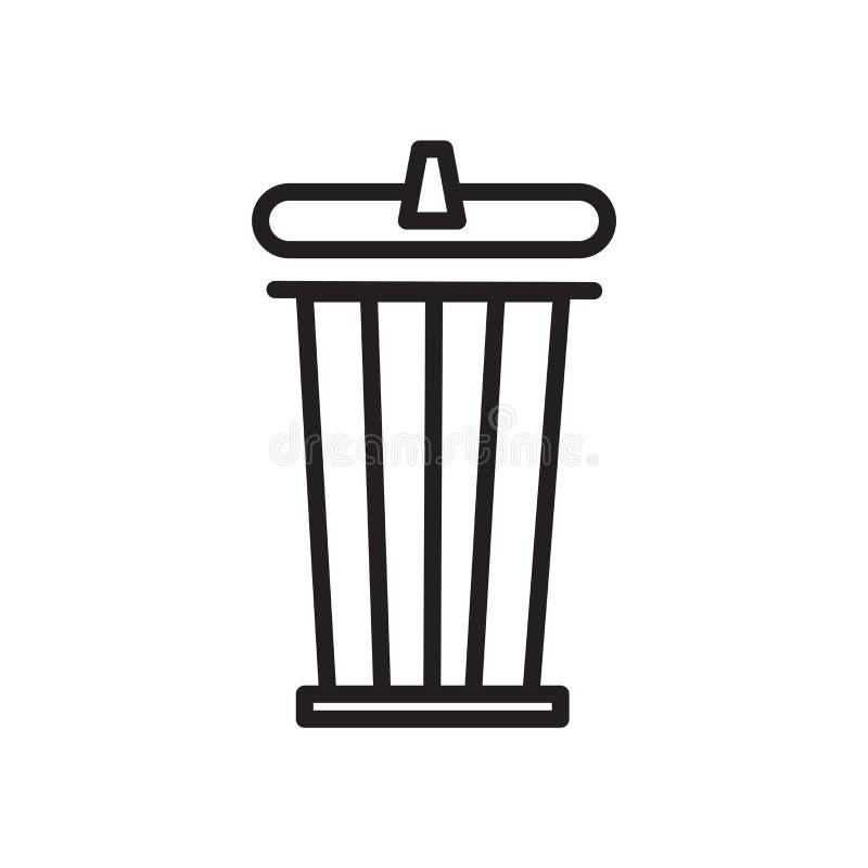 Niszczy ikona wektor odizolowywającego na białym tle, grata znaku, liniowym symbolu i uderzenie projekta elementach w konturu sty ilustracja wektor