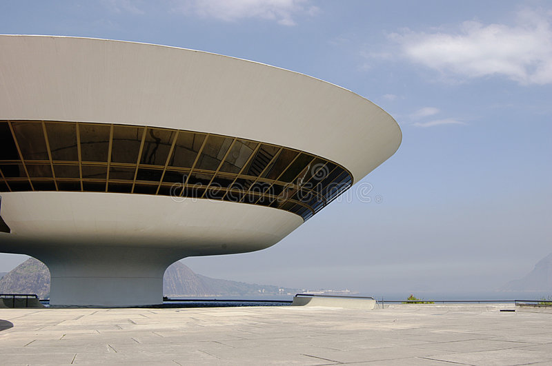 Niterói Contemporary Art Museum (MAC). One of the most spectacular art museums in the world, the MAC (Museu de Arte Contemporanea) has put Niteroi on the ' stock photography