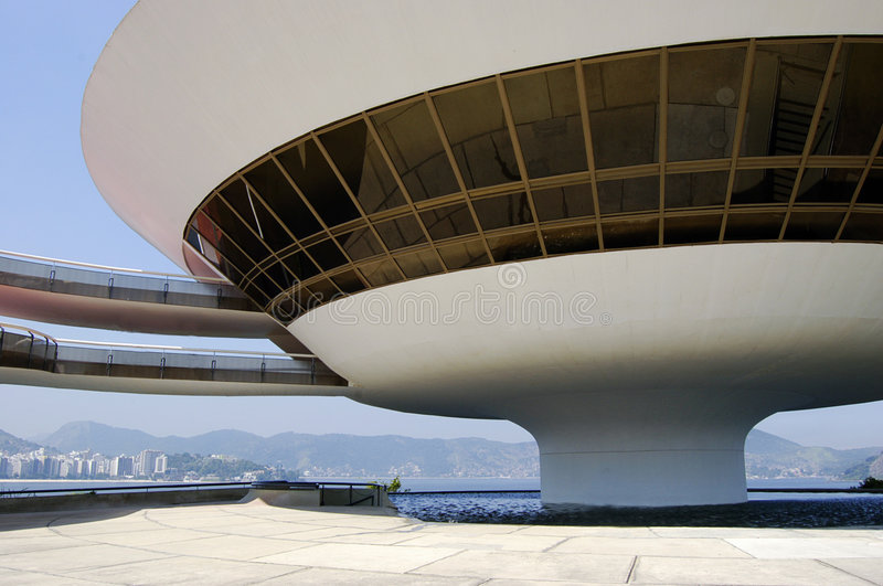 Niterói Contemporary Art Museum (MAC). One of the most spectacular art museums in the world, the MAC (Museu de Arte Contemporanea) has put Niteroi on the ' royalty free stock photo