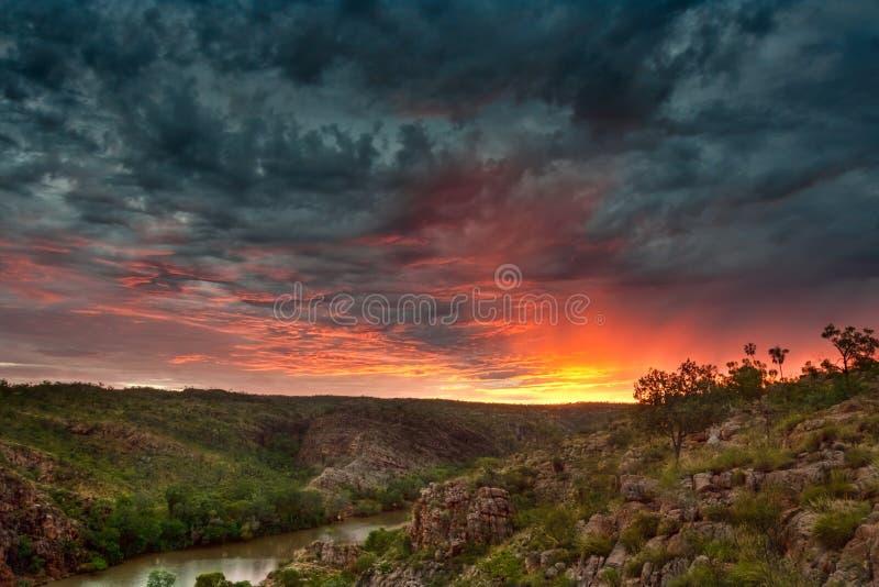 Nitmiluk Sonnenaufgang stockbilder