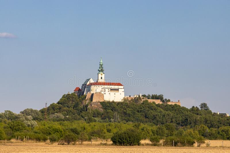 Nitra castle in Slovak Republic stock images
