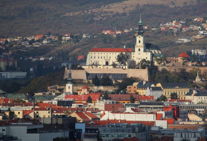 Nitra skyline, Slovakia. At day stock images