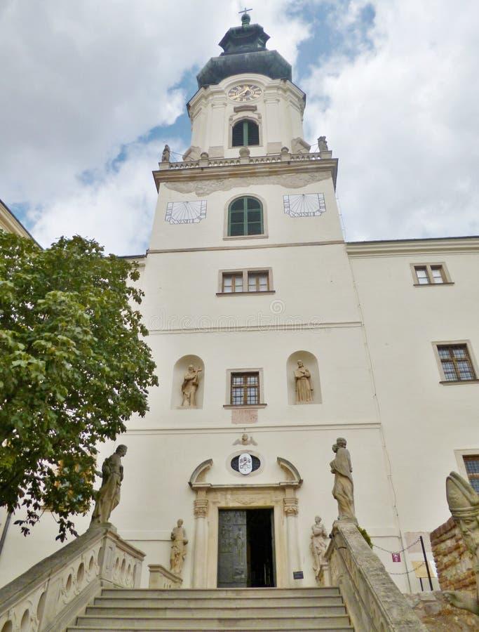 Nitra slott - inom slotten arkivfoto