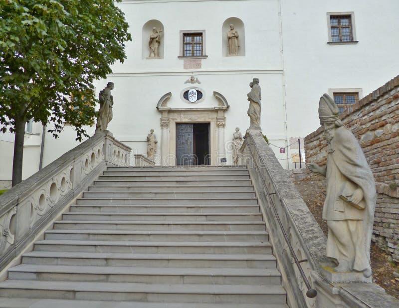 Nitra slott - inom slotten royaltyfria foton