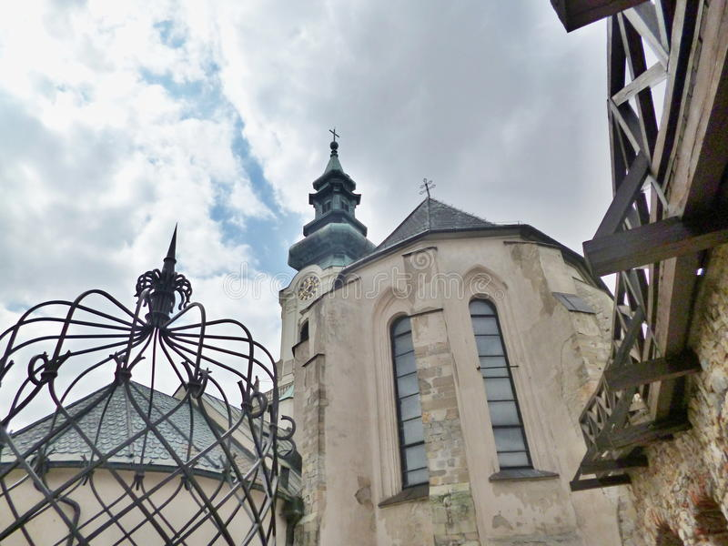 Nitra slott - inom slotten royaltyfri foto