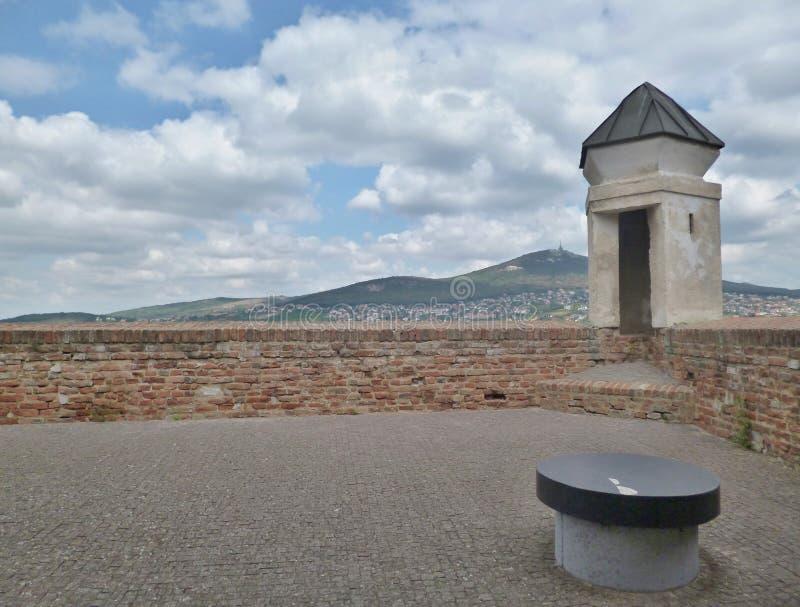 Nitra slott - sikt från slotten arkivbilder