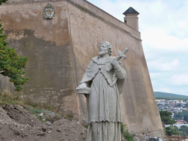 Nitra slott - statydetalj royaltyfri fotografi