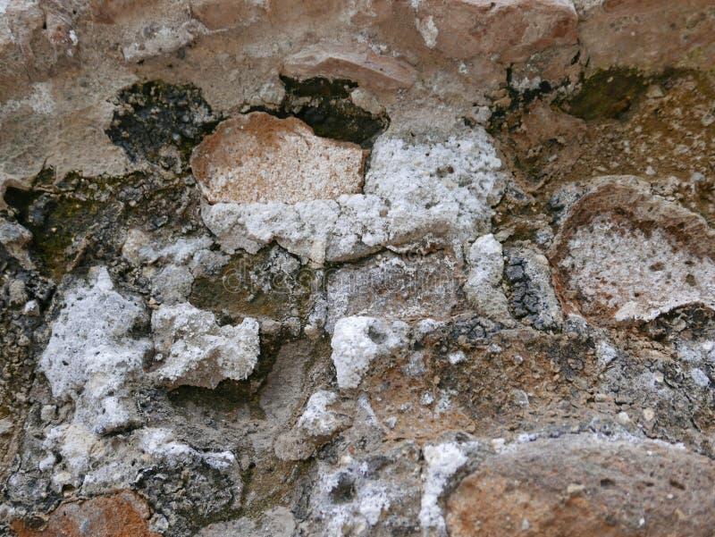 Nitrate de potassium sur le mur antique photo stock