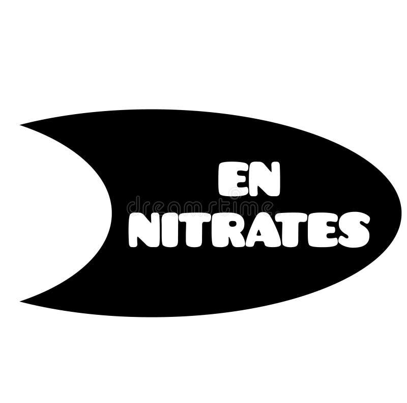 Nitratstämpel på vit royaltyfri illustrationer