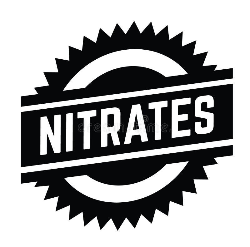 Nitratstämpel på vit stock illustrationer