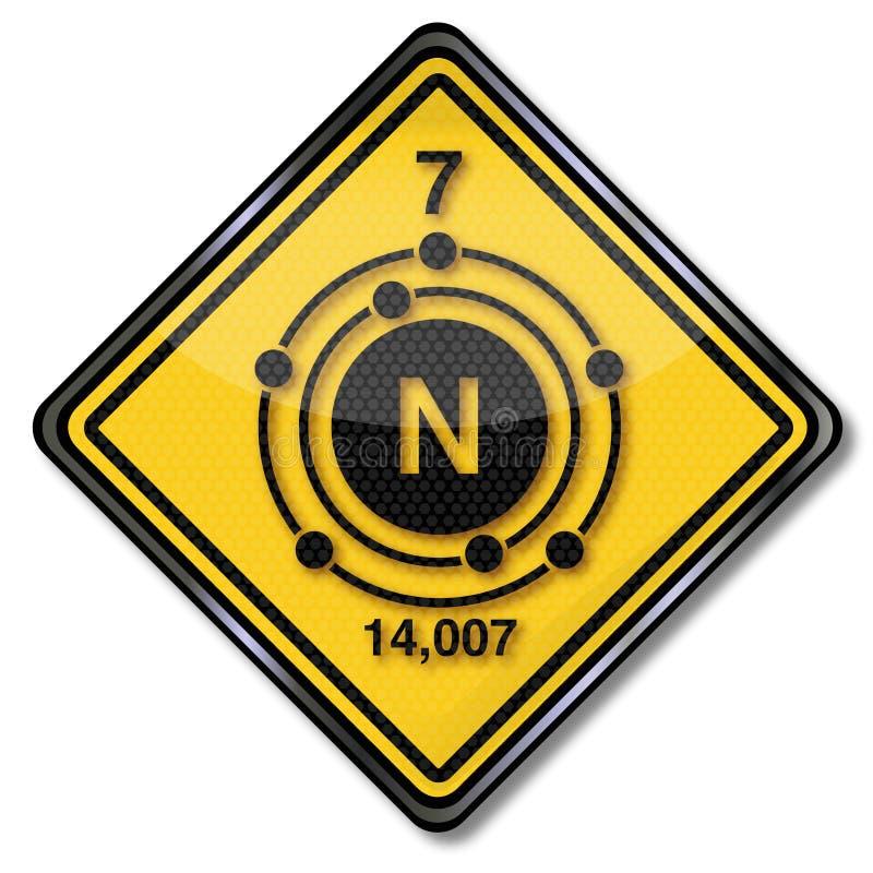 Nitrogênio do caráter da química ilustração do vetor