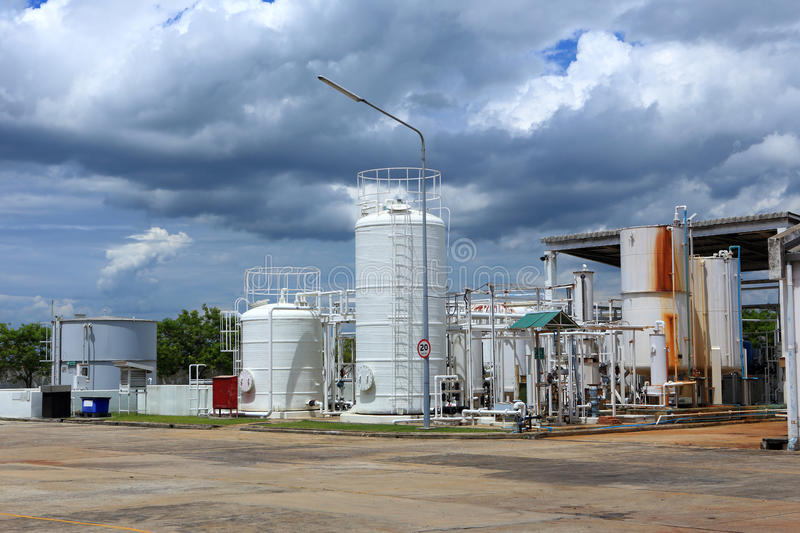 Nitrogen chemical plant for factory. A Nitrogen chemical plant for factory stock photography