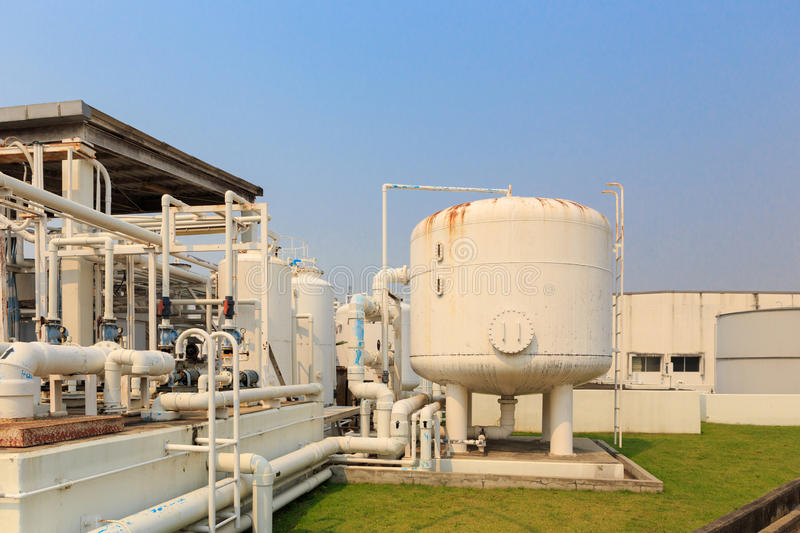 Nitrogen chemical plant for factory. A Nitrogen chemical plant for factory stock image