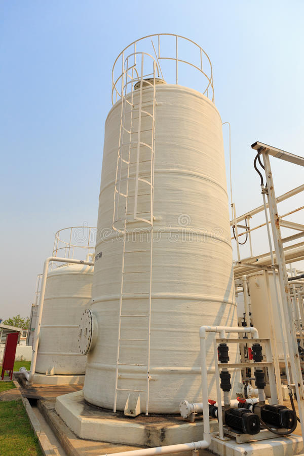 Nitrogen chemical plant for factory. A Nitrogen chemical plant for factory stock photos