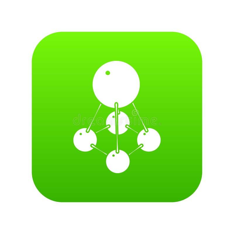 Nitromethane icon green vector vector illustration