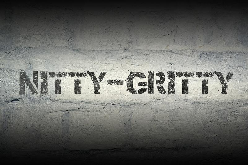 Nitty-χαλικώδης λέξη GR στοκ εικόνα