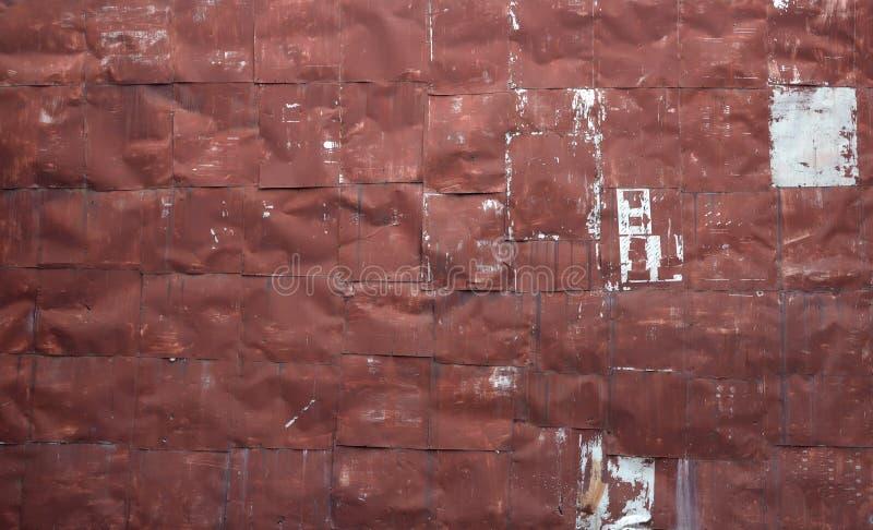 Nitująca czerwona metalu prześcieradła ściana obraz royalty free