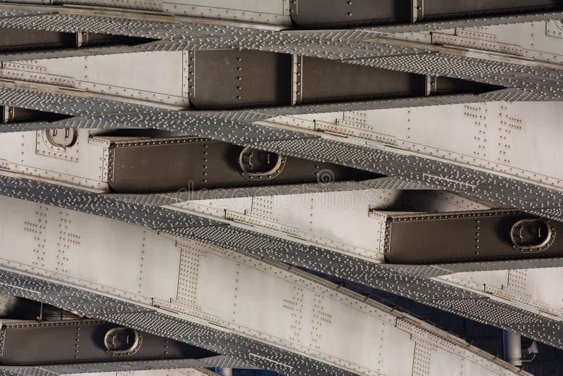 Nitujący metal od mosta, textural tło fotografia royalty free