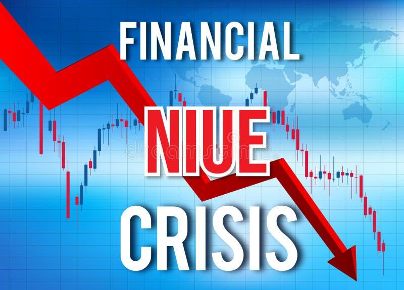 Niue Financial Crisis Economic Collapse Market Crash Global Meltdown. Illustration stock illustration