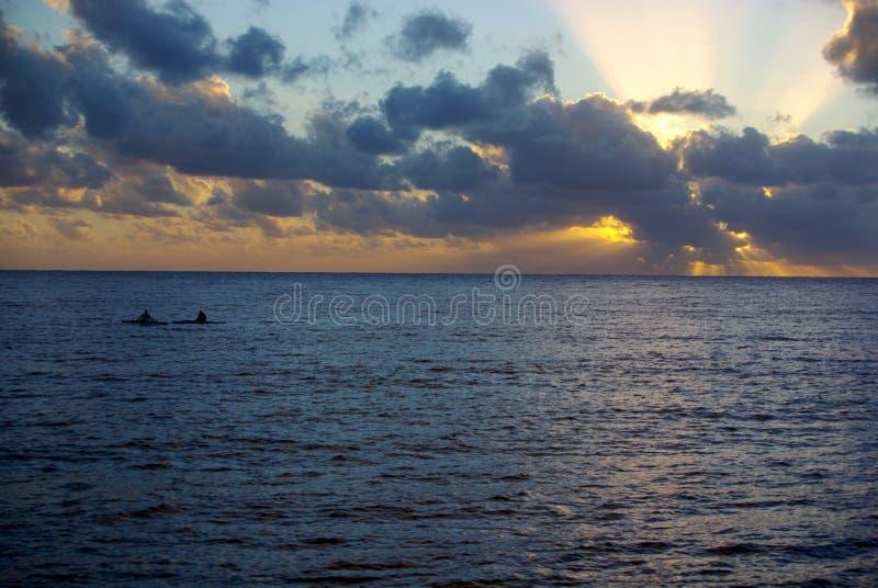 Niue kajaka zmierzch fotografia stock