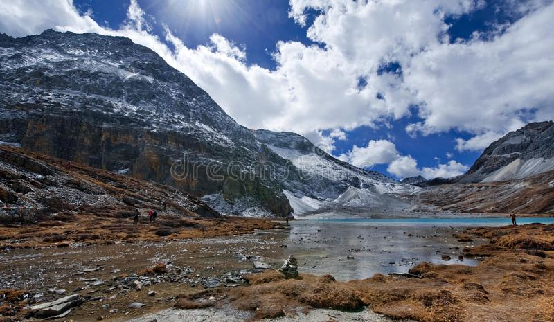 Niunaihai, Yading, Qinghai obrazy royalty free