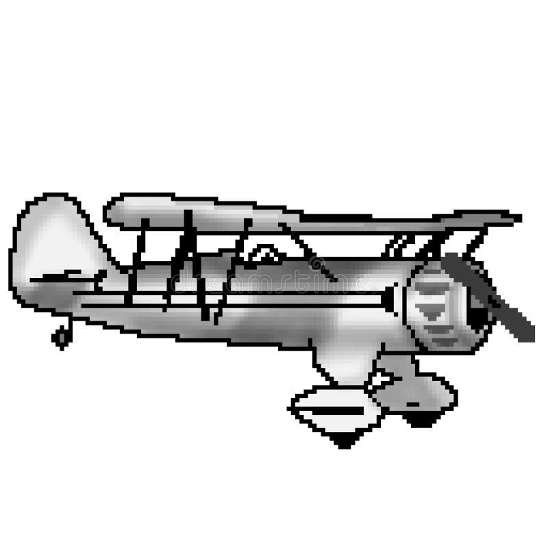 Nivå för bit för PIXEL 8 utdragen grå antik stock illustrationer