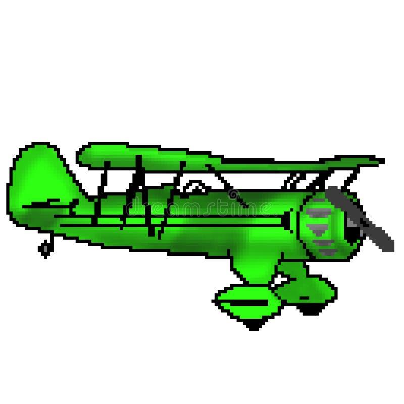 Nivå för bit för PIXEL 8 utdragen grön antik royaltyfri illustrationer