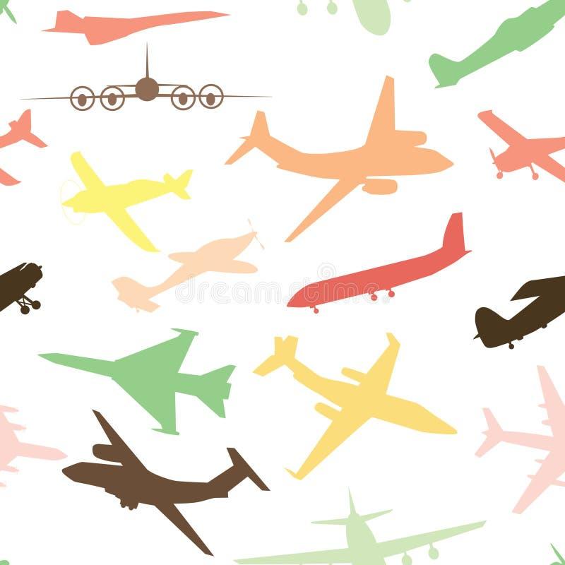 nivå för flygplanflygplanflyg stock illustrationer